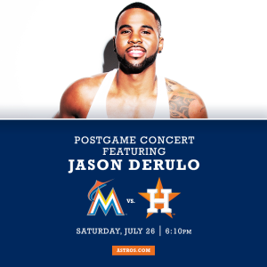 Jason Derulo post-game concert!