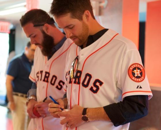 Houston Astros visit MLB Fan Cave