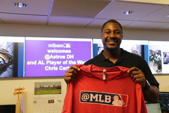 Chris Carter at MLB.com headquarters in NYC