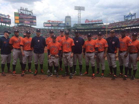 Astros wearing high socks for Gordy MacKenzie