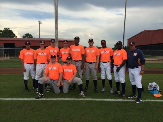 Astros Team Rehab wore high socks for MacKenzie