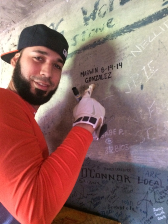 Marwin shows off his signature