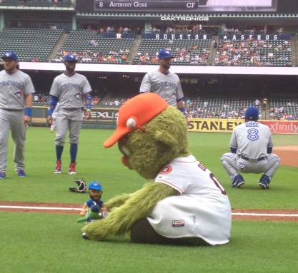 Orbit plays with the Bautista and Orbit dolls