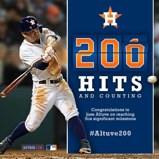 Get your #Altuve200 ticket package at Astros.com/Altuve