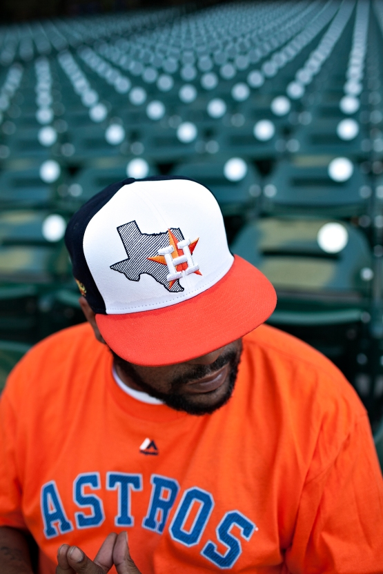 Bun B models the limited edition Astros cap he helped design