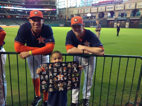 STH Springer and Presley with kid and poster