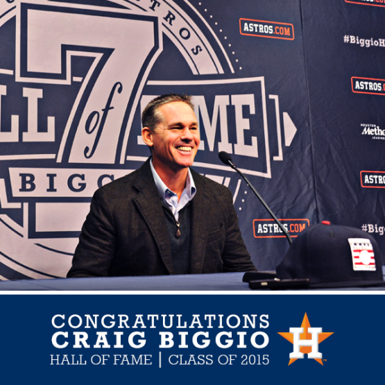 Biggio is all smiles as a new Hall of Famer