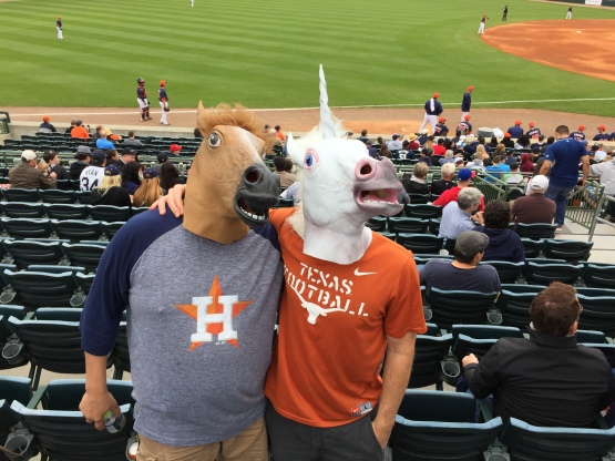 Horsing around in the stands