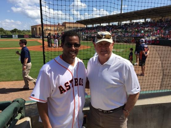 George Springer, Sr. met Astros Legend Nolan Ryan