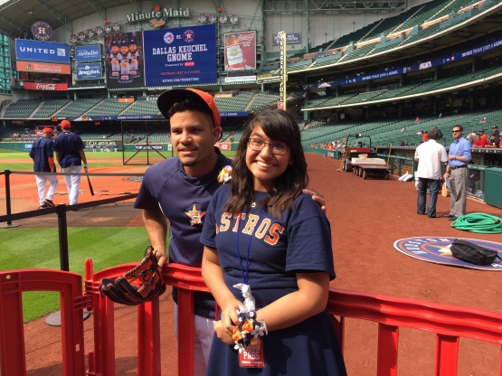 Jose Altuve meet a superfan today