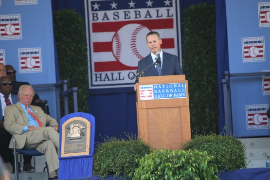 Craig Biggio speaks at his Hall of Fame induction