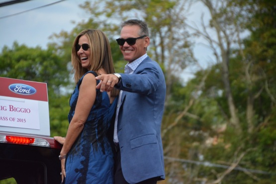 Craig and Patty Biggio at Hall of Fame Parade