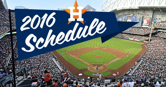 2016 Astros Schedule Released