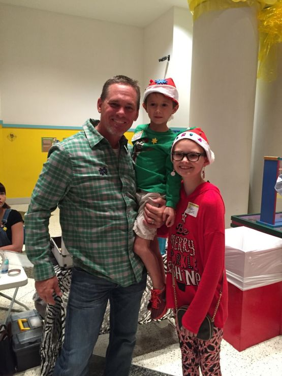 Biggio and two Sunshine Kids in the holiday spirit!